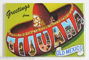 Greetings from Tijuana FRIDGE MAGNET mexico travel souvenir
