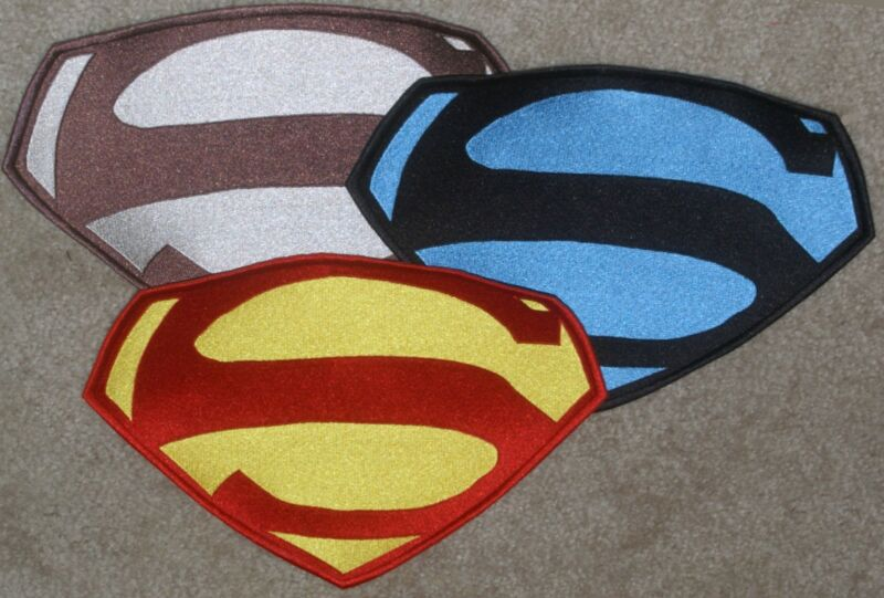 """7"""" x 10"""" Embroidered George Reeves Superman Chest Logo Patch: color choice [5]"""