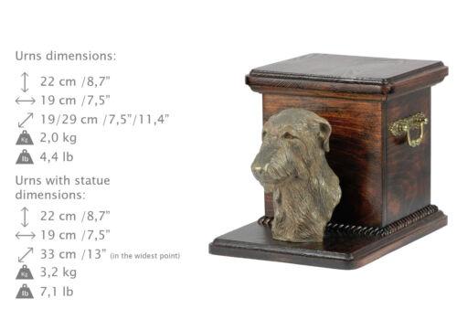 Deerhound, dog urn made of cold cast bronze, ArtDog, USA - kind2