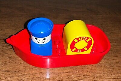 Vintage 1978 Lego Duplo Bath Toy Boat Set 534
