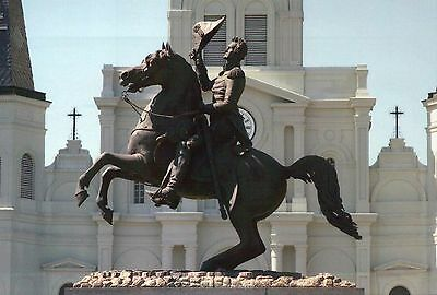 Statue of Andrew Jackson, Jackson Square New Orleans Louisiana, Horse - Postcard
