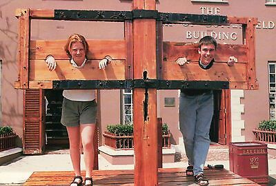 Punishment of Yesteryear, the Stocks in St. George's Bermuda UK --- Postcard
