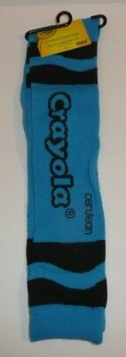 Cerulean Blue Crayola Crayon Color Women's Knee High Socks Size 9-11 - Cerulean Blue Crayon