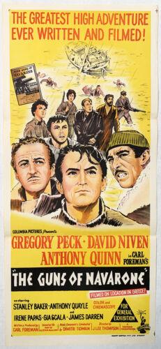 Guns of Navarone Australian Daybill Original Poster 1961