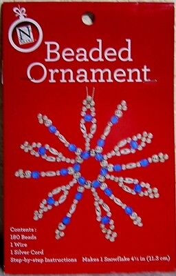 Beaded Snowflake Christmas Ornament Craft Kit: Make Your Own Holiday Decoration! ()