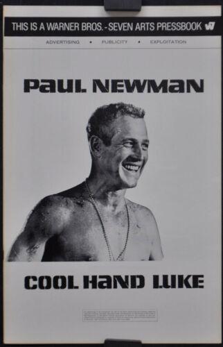 COOL HAND LUKE 1967 ORIGINAL 11X17 UNCUT PRESSBOOK PAUL NEWMAN GEORGE KENNEDY