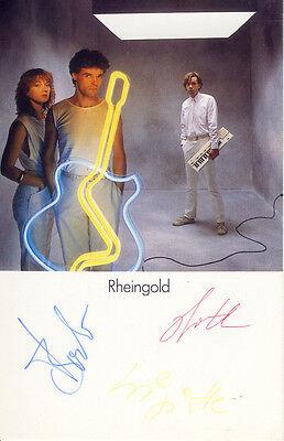 Rheingold 80er NDW Dreiklangsdimensionen Autogramm ORIGINAL 1982