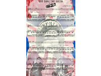 Sex Pistols Textile Flag God Save The Queen Blue 105x66cm