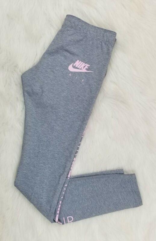 Nike AIR Leggings Gray Pink Girls Youth Size Large AIR Nike