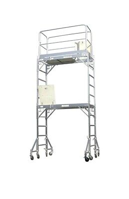 Scaffold Aluminum Scaffold Rolling Tower Standing At 12 High Hatch Dech With...