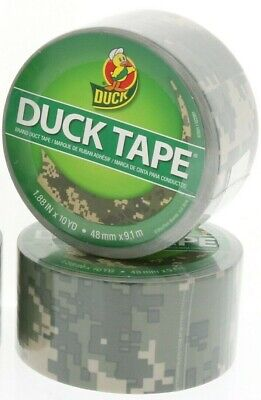 2 Digital Camouflage Duck Duct Tape 1.88 X 10yds - New Sealed