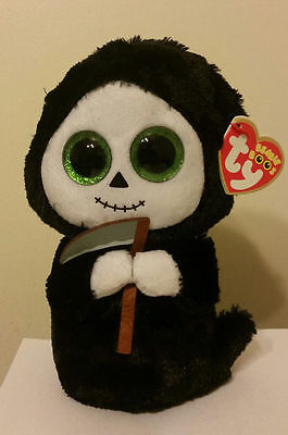 """Ty Beanie Boos ~ GRIMM the 6"""" Grim Reaper ~ MWMT'S ~ 2015 NEW ~ IN HAND"""