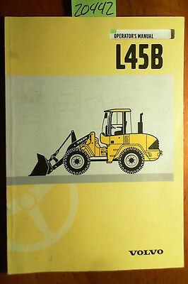 Volvo L45b Loader Owners Operators Manual Voe21a1000836 703