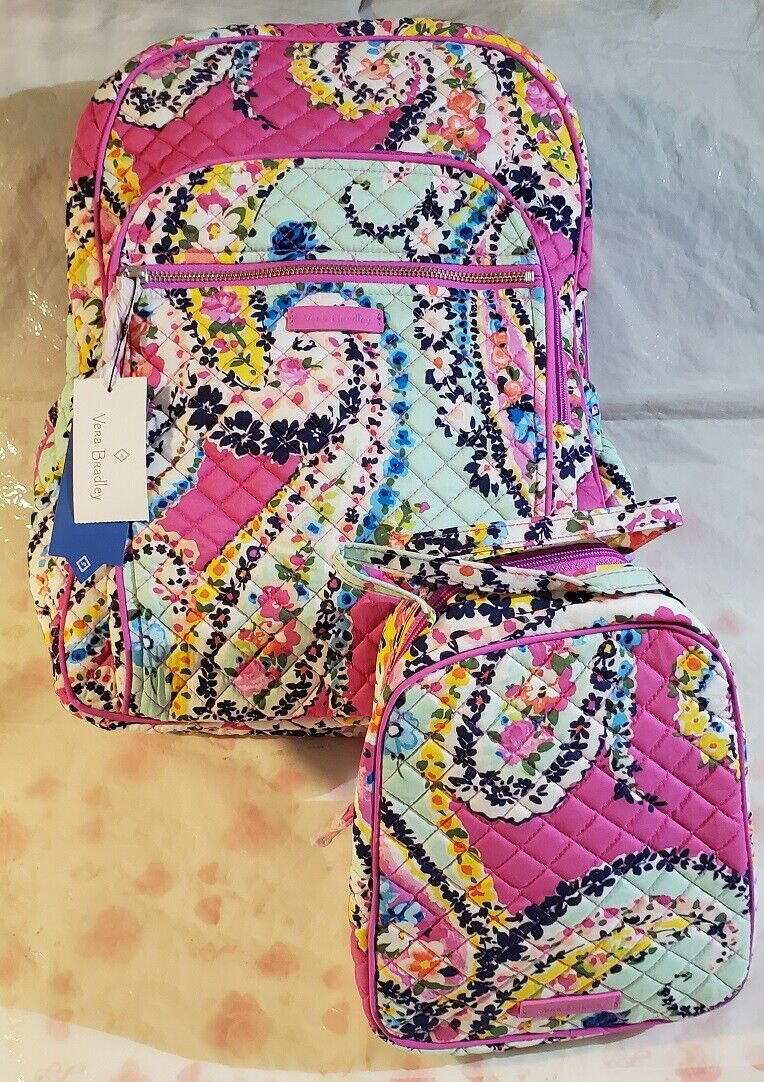 Vera Bradley Iconic Campus Backpack, Signature Cotton, Wildf