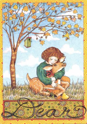 DEAR Deer Fawn Autumn Fall-Handcrafted Fridge Magnet-W/Mary Engelbreit art