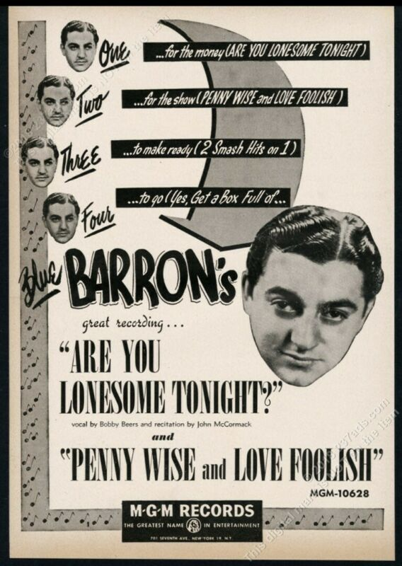 1950 Blue Barron photo MGM Records vintage trade print ad