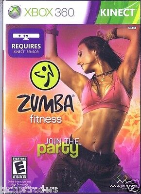 Zumba Fitness Join The Party (xbox 360, 2010) Factory Sea...