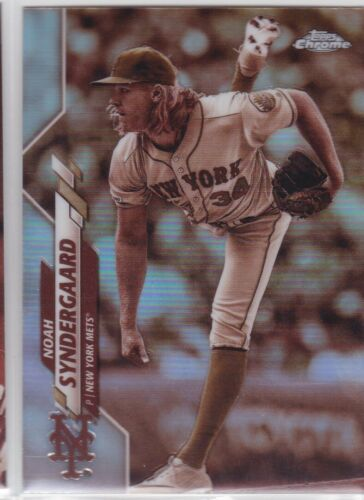 2020 TOPPS CHROME MLB NEW YORK METS NOAH SYNDERGAARD SEPIA REFRACTOR NO. 58