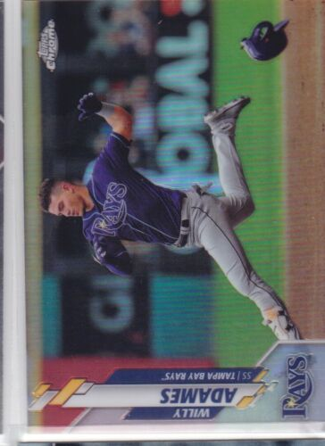 2020 TOPPS CHROME MLB TAMPA BAY RAYS WILLY ADAMS BASE REFRACTOR NO. 179