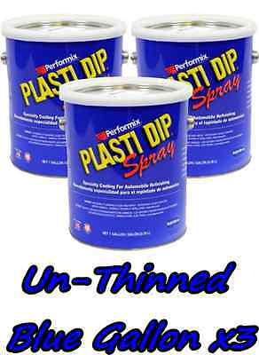 3 Gallons Blue Unthinned Performix Plasti Dip Concentrate Full Strength Free Sh