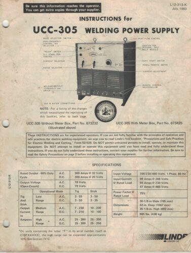 Linde UCC 305 Manual