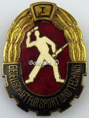 DDR GST Mehrkampfabzeichen von 1960 bis 1965 in Gold 1. Wiederholung  (GST0388)