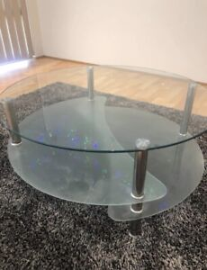 Large Round Glass Coffee Table