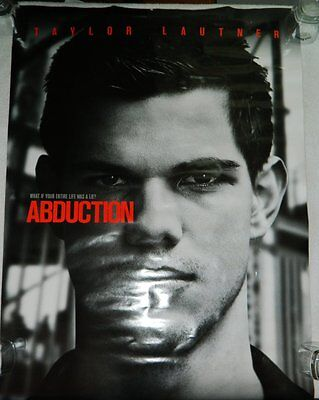"""Double-Sided Movie Theater Poster Taylor Lautner Movie """"Abduction"""" 27"""" x 40"""" for sale  Rochester"""