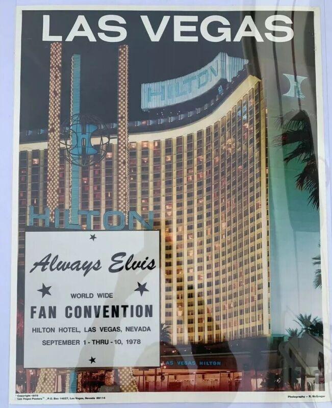 Original Elvis Las Vegas Hilton Always Elvis Poster / RARE / Colonel Parker
