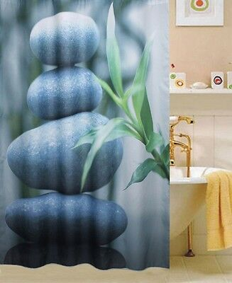 Gemstone Curtain (STONE  DESIGN  LUXURY  FABRIC SHOWER CURTAIN, )