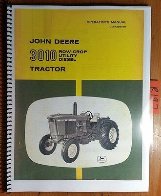 John Deere 3010 Row-crop Utility Diesel Tractor Owners Operators Manual 161
