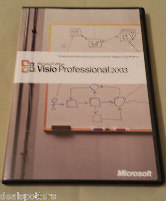 Microsoft Visio 2003 Professional Upgrade   Free Expedited Shipping