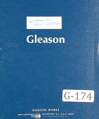 Gleason 2 G2h Hypoid Generator 27298 Up Operators Instructions Manual