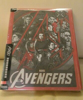 Avengers x Mondo Blufans Steelbook Set,  Clear slip verison,  New/Mint