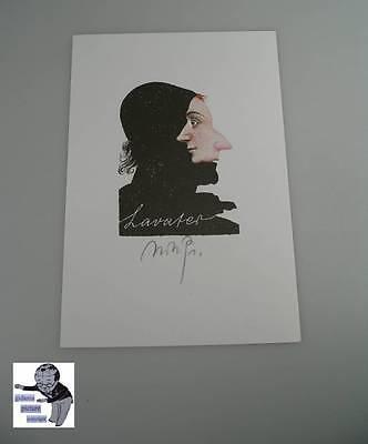 Michael Mathias Prechtl orig. Farblithographie signed