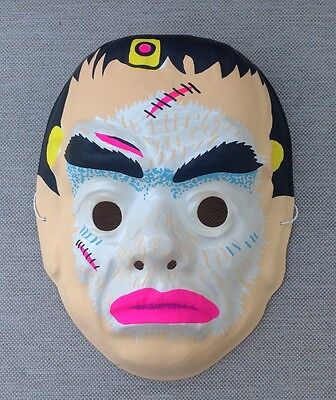 VINTAGE FRANKENSTEIN Monster HALLOWEEN MASK Mint Shape Plastic Style