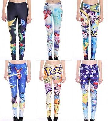 Pokemon Leggings (New Lovely Pokemon Cartoon pattern Printed Fitness Sport Leggings Size S-4XL)