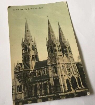 St. FIN BARRES CATHEDRAL,CORK POSTCARD 1912