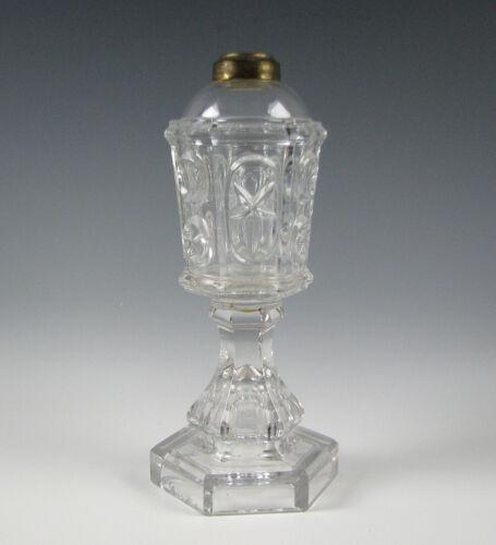 Antique American Flint Glass Fluid Lamp EAPG