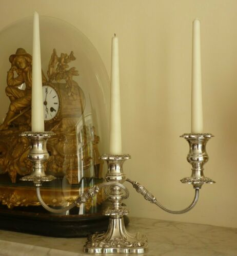 Vintage Viners silver plate candelabra candlestick ~ heavy quality