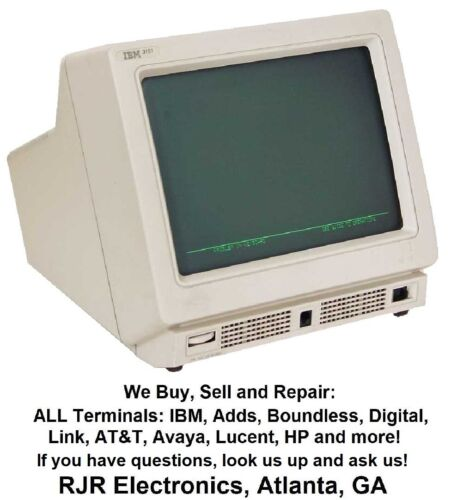 IBM 3151 Terminal, IBM 09F3484 IBM 09F3485 Fully Refurbed! Many more types Avail