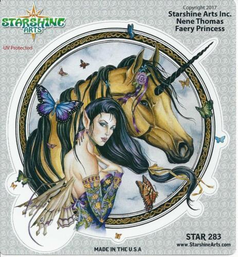 FAERY PRINCESS Unicorn & Fairy Sticker Car Decal Nene Thomas faerie