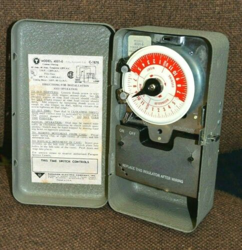 AMF Paragon 4001-0 24-Hour C-1878 ELECTRIC TIMER NEW