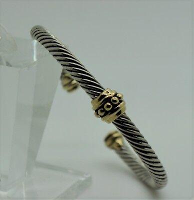 B353 Simply Unique design style Gold Dots Silver Cable Cuff Bracelet Design Fashion Cuff Bracelet