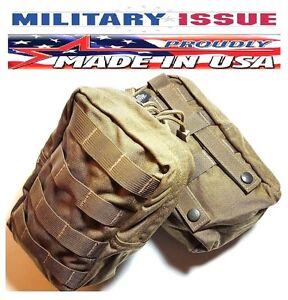 (2) SPECTER GEAR Coyote USMC Marine Medium Vertical Molle Utility Pouch Or IFAK