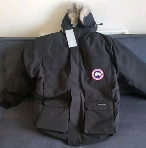 GENUINE CANADA GOOSE MEN'S EXPEDITION PARKA JACKET - BLACK XL