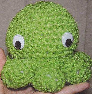 Crochet Pattern ~ OCTOPUS Stuffed Beastlike Kids Toy ~ Instructions