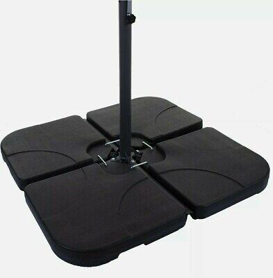 60KG OVERHANGING 4PC PLASTIC PARASOL BASE CANTILEVER BANANA UMBRELLA STAND SLABS