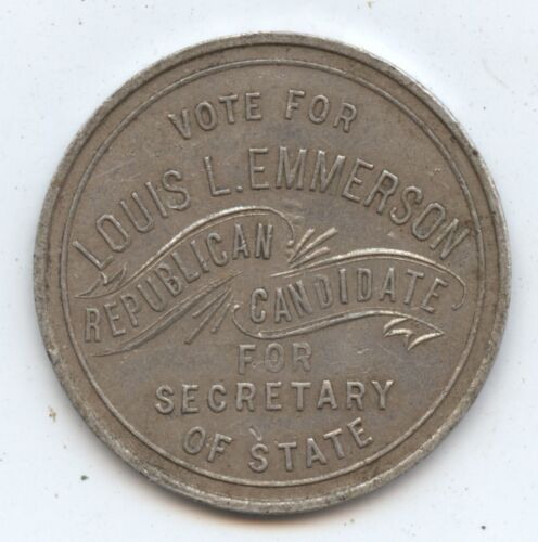 Campaign Token Louis L. Emmerson (#7483) Republican Sec. of State Candidate 30MM