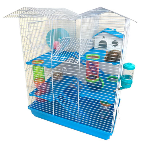 5-Levels Large Twin Tower Syrian Hamster Habitat Gerbil Degu Mice Rats Cage 502